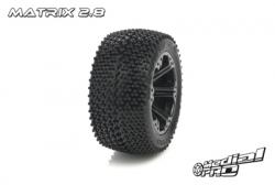 Medial Pro - Sport Reifen und Felgen verklebt - Matrix 2.8 - Schwarze Felgen - Hinter Rustler/VXL, Stampede/VXL MP-5635