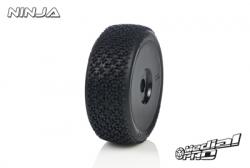 Medial Pro - Racing Reifen und Felgen verklebt - Ninja - M2 Medium - Buggy 1/8 - 17mm Sechskant - Weisse Felgen MP-6415-M2