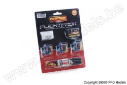 Protech RC - Flightpack 35mhz 6Ch + 3X B170 + Pro.E18 T0225.350