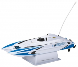 AquaCraft Mini Wildcat Katamaran 2.4GHz RTR Blau AQUB47BB