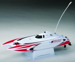 AquaCraft Mini Wildcat Katamaran 2.4GHz RTR Rot AQUB47RR
