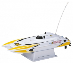 AquaCraft Mini Wildcat Katamaran 2.4GHz RTR Gelb AQUB47YY