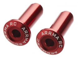 Wheelie Bar-Achse, Alu, rot (2) 2WD AR320186