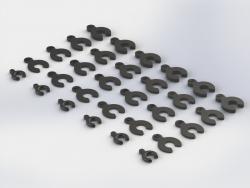 Distanzscheibe Set, Kunststoff NERO AR330366