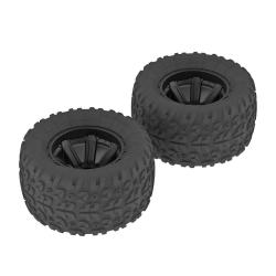 dBoots COPPERHEAD Kompletträder, schwarz (2) AR550014