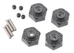 Radmitnehmer 12mm-Sechskant, breit, Alu, schwarz AX30429