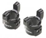 SCX10 Lenkhebelträger, Alu, schwarz (2) AX30495