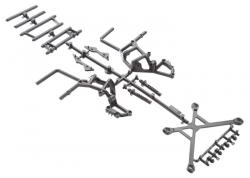 YETI Überrollkäfig Teile, hinten AX31102