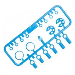 10mm King Dämpfer Kunststoffteile, blau AX31300