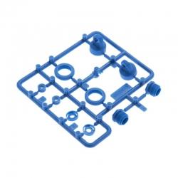 10mm King Dämpferkappen & Zubehör, blau AX31301