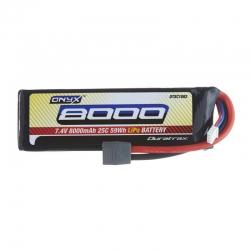 LiPo 7.4V 8000mAh Star/T-Stecker 25C 2S Soft DTXC1882