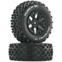 3.0 SC Komplettrad Punch, schwarz (12 mm SK) 1/10 DTXC3708