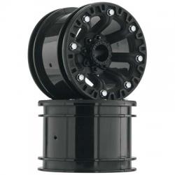2.2 8-Speichen Felge schwarz (2) (12mm SK) 1/10 DTXC3857