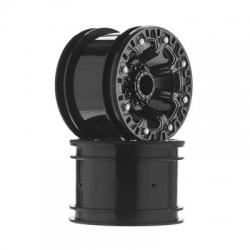 2.2 8-Speichen Felge schwarz-chrom (12mm SK) 1/10 DTXC3858