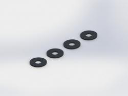 WASHER 3x8x0.5mm (4pcs) TD709072