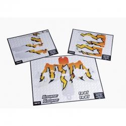 Dekorbogen X-8E freaky orange Graupner S1008.14O