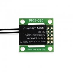 Empfänger GR-12L SUMD +T 2 Antennen PCB Graupner S1045