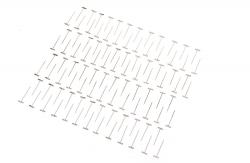 vernickelte T-Pins 0,9 x 32mm (100 Stk) DuBro T-DB253