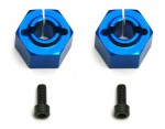 Felgen-Mitnehmer 12mm 6-Kant, Hinten SC10, Alu CNC, blau (2) Thunder Tiger 0309892