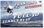 DJI Phantom II V2.0 RTF + Zenmuse H3 3D GoPro Gimbal - NEUE Version