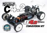 C4.2 CENTRO Mittel-Motor-Conversion Kit für RC10B4.1 & B4.2 Thunder Tiger 041C0060