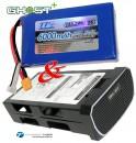 GHOST+ LiPo 6S 22.2V 6000mAh inkl. Akku-Box Thunder Tiger 2852