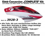 E360 Conversion COMPLETE inkl. Motor, Regler + Blätter Thunder Tiger 3928-3