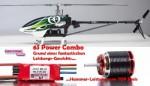 X50E Flybarless 6S KONTRONIK Combo, Heck-Starr-Antrieb, Kit+ Thu