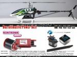 X50E Flybarless Elektro, Heck-Starr-Antrieb KIT Combo Thunder Ti