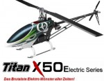 X50E Flybarless 6S POWER Combo, Heck-Starr-Antrieb, Kit + Thunde