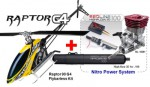 Raptor G4 Nitro Flybarless Kit REDLINE 100 Power Combo, GELB Thu