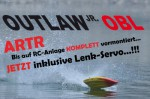 OUTLAW JR OBL Brushless Kompakt-Power-Boot ARTR + GELB Thunder T