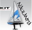 Racing-Segel-Yacht NAULANTIA 1:25, Baukasten, BLAU Thunder Tiger 5549-L