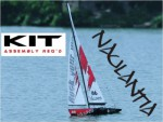 Racing-Segel-Yacht NAULANTIA 1:25, Baukasten, ROT Thunder Tiger 5549-R