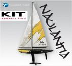 Racing-Segel-Yacht NAULANTIA 1:25, Baukasten, GELB Thunder Tiger 5549-Y