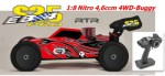 EB4 S2.5 1:8 Nitro 4WD Buggy 4,6ccm RTR 2.4G, ROT-Carbon Thunder Tiger 6243-F114
