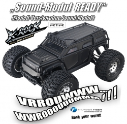 K-ROCK MT4 G5 1:8 Brushless 4WD 6S-Monster-Truggy SCHWARZ Thunder Tiger 6406-F111-S