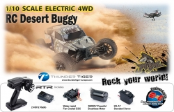 JACKAL 1:10 Brushless 4WD Trophy-Truck RTR Thunder Tiger 6544-F111