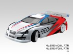 TS2e Tourenwagen 1:10, Elektro 2WD RTR 2.4G, WEISS-ROT Thunder Tiger 6580-F281