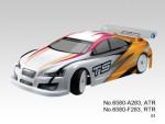 TS2e Tourenwagen 1:10, Elektro 2WD RTR 2.4G, WEISS-GELB Thunder Tiger 6580-F283