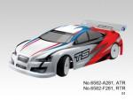 TS4e Tourenwagen 1:10, Elektro 4WD RTR 2.4G, WEISS-ROT Thunder T