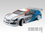 TS4e Tourenwagen 1:10, Elektro 4WD RTR 2.4G, WEISS-BLAU Thunder