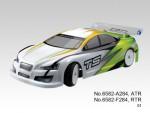 TS4e Tourenwagen 1:10, Elektro 4WD RTR 2.4G, WEISS-GRÜN Thunder