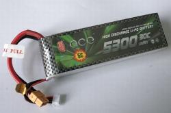 LiPo 30C Gens ace 3S 5300mAh 11,1V, XT60 Stecker Thunder Tiger BT2851