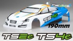 TS2e/TS4e Karosserie 1:10 Tourenwagen 190mm, BLAU Thunder Tiger PD7513-L