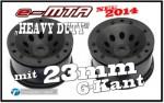 e-MTA HD Felgen für 23mm 6-Kant, Schwarz (2) Thunder Tiger PD7532