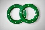 Bead-Lock Ringe (Grün) für 6225 Thunder Tiger PD8322