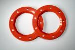 Bead-Lock Ringe (Orange) für 6225 Thunder Tiger PD8323
