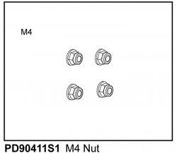 Muttern M4 (4) u. A. für KAISER XS Thunder Tiger PD90411S1