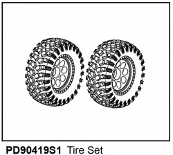 KAISER XS Komplett-Räder Crawler-Scale-Style 1:14 (2) Thunder Tiger PD90419S1